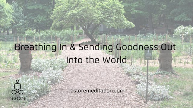 Breathing in and sending goodness out...