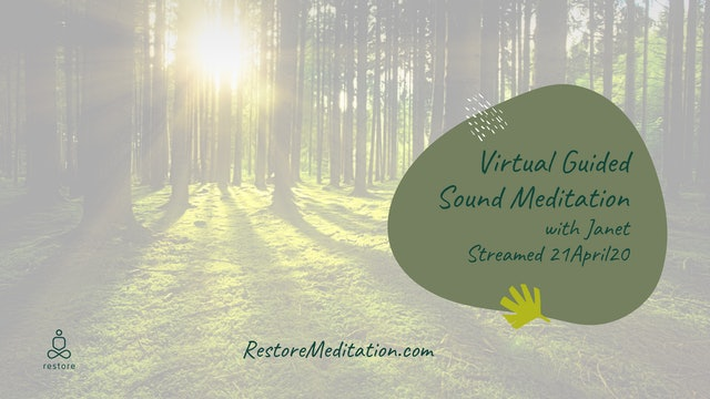 Virtual Sound Restore with Janet Williams 21April20