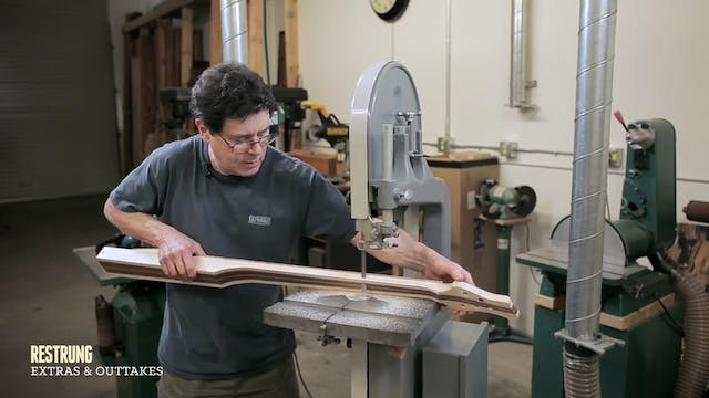 How to Build... - Step #6 - Sculpting the Neck on a Bandsaw