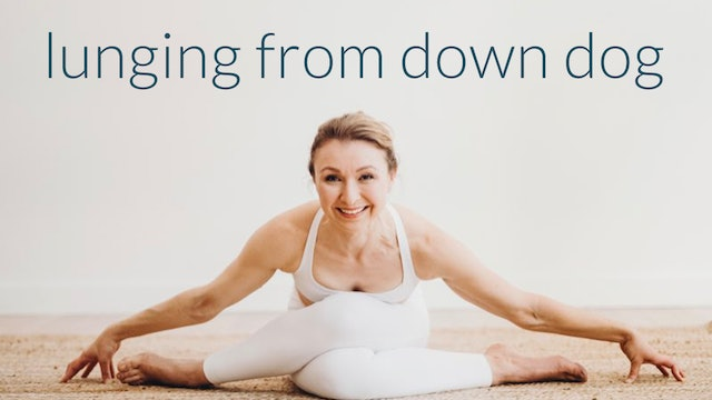 FREE: Yoga Tutorial : Lunging to and from Down Dog : 5 Min.