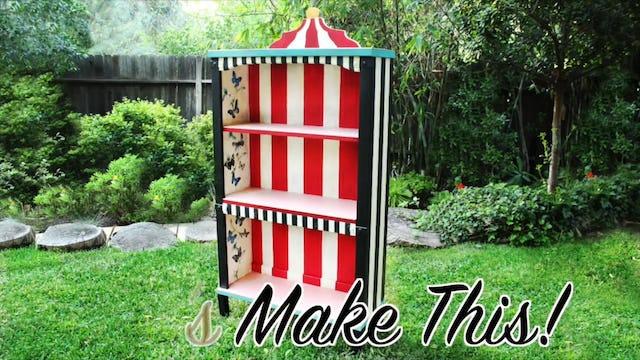 """Alice In Wonderland Bookcase Makeover"""