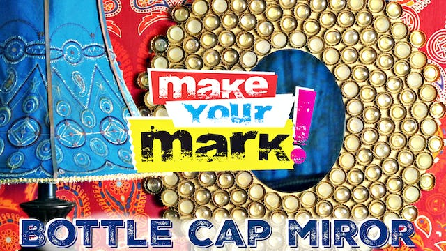 """Bottle Cap Boho Mirror"""
