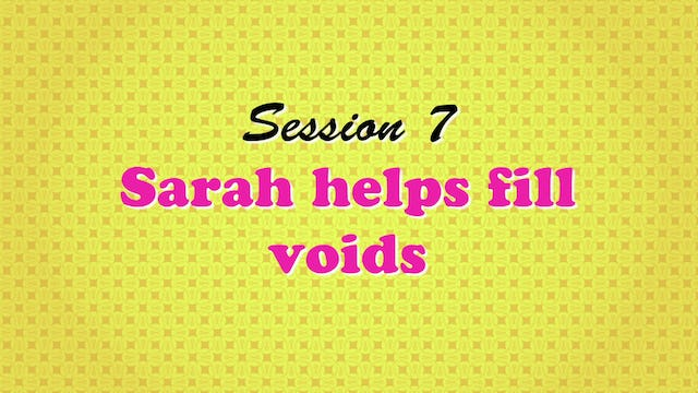 """""""Sarah Helps Fill Voids"""""""