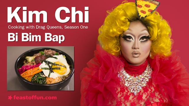 Cooking With Drag Queens - Kim Chi - Bi Bim Bap (Korean style mixed rice)