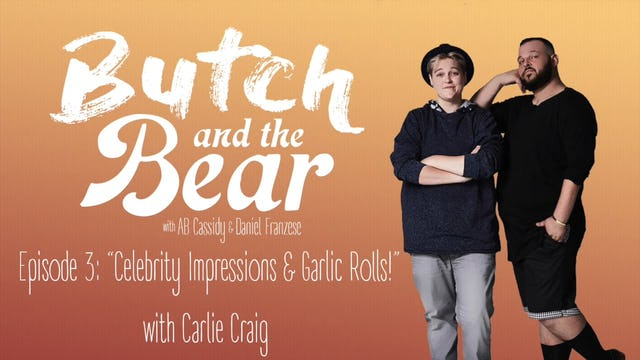 """Celebrity Impressions and Garlic Rolls!"" with Carlie Craig"