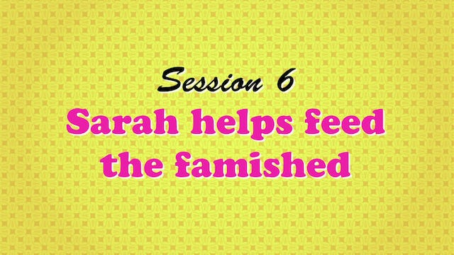 """""""Sarah Helps Feed the Famished"""""""