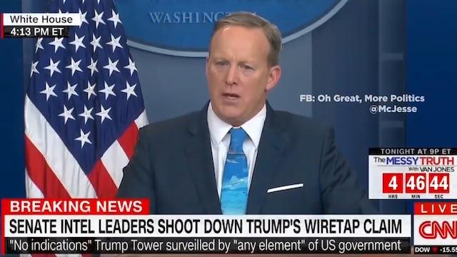 """Sean Spicer's GREEN Tie Gets a HILARIOUS MEME!"""