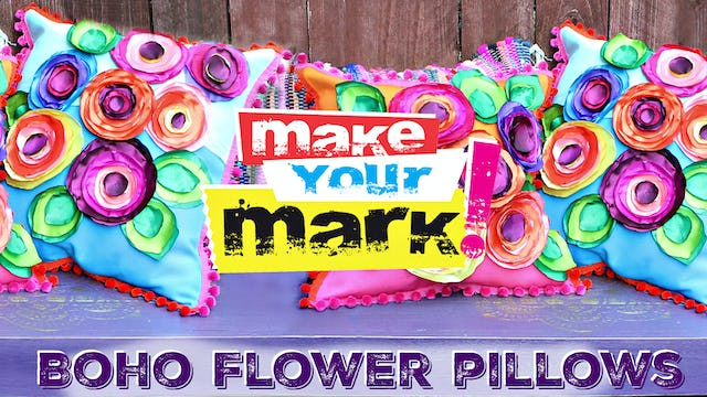 """Boho Flower Pillows"""