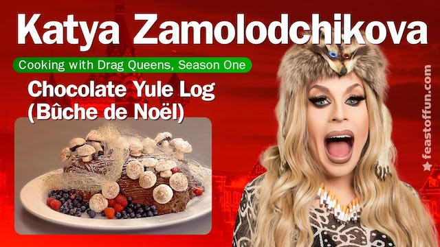 Cooking With Drag Queens - Katya Zamolodchikova - Chocolate Yule Log (Bûche de Noël)