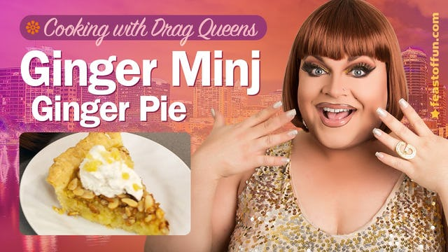 "Cooking With Drag Queens | ""Ginger Minj - Ginger Pie"""