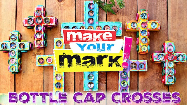 """Bottle Cap Crosses"""