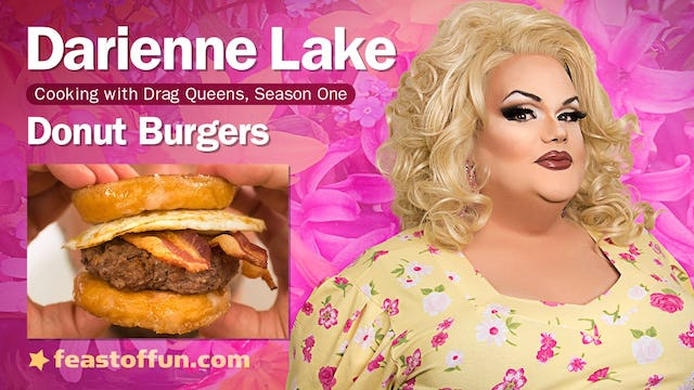 Cooking With Drag Queens - Darienne Lake - Luther Burgers, Ladies Brunch Burgers