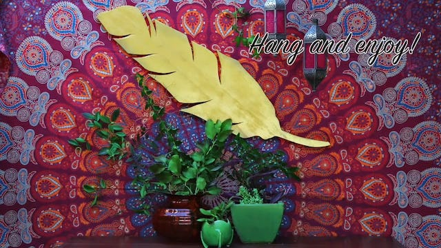 """""""Easy Boho Feather and Moon Phase Wall Decor"""""""