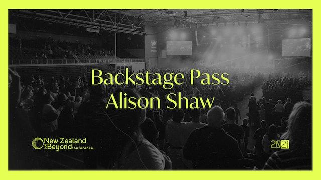 Backstage: Alison Shaw