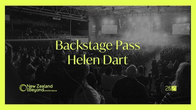 Backstage: Helen Dart