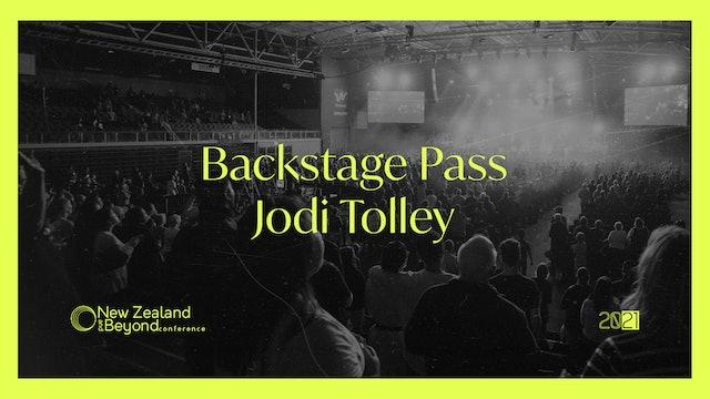 Backstage: Jodi Tolley