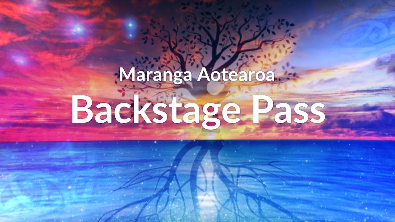 Backstage Pass & Interviews - Maranga Aotearoa