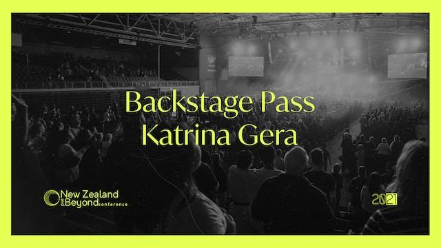 Backstage: Katrina Gera