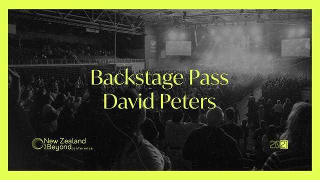 Backstage: David Peters