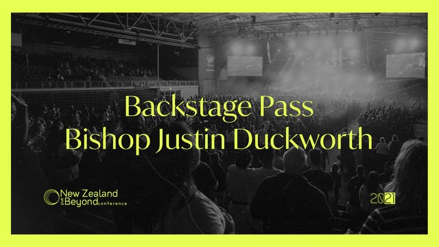 Backstage: Bishop Justin Duckworth