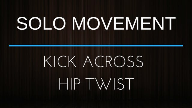 Body Movement Exercise - Kick Across Hip Twist