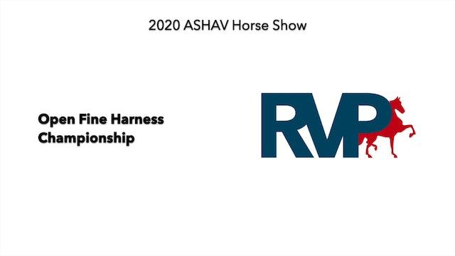 ASHAV 2020 - Class 112 Open Fine Harness Championship