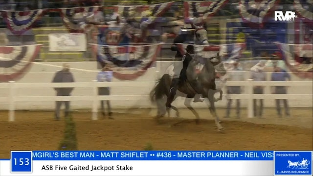 2020 BB - Class 153 ASB Five Gaited Jackpot Stake