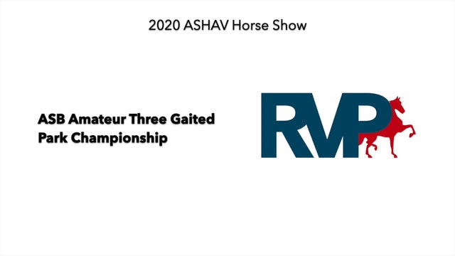 ASHAV 2020 - Class 116 ASB Amateur Three Gaited Park Championship