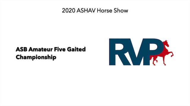 ASHAV 2020 - Class 109 ASB Amateur Five Gaited Championship