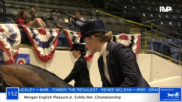 2020 BB - Class 152 Morgan English Pleasure Junior Exhibitor:Amateur Championship