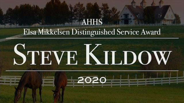 Steve Kildow - AHHS Elsa Mikkelsen Distinguished Service Award