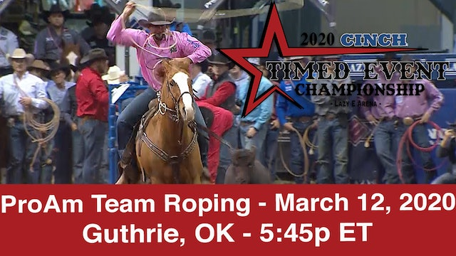 2020 ProAm Team Roping