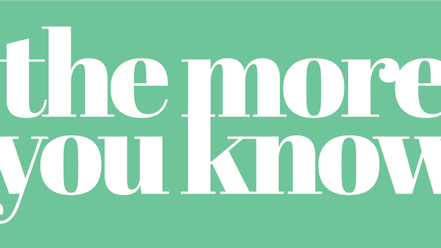 The More You Know - Part 1 [January 5, 2020]