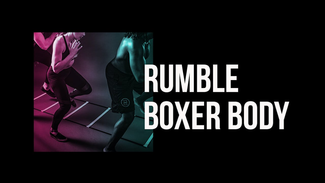 One month free ONLINE boxing classes from Rumble Boxing