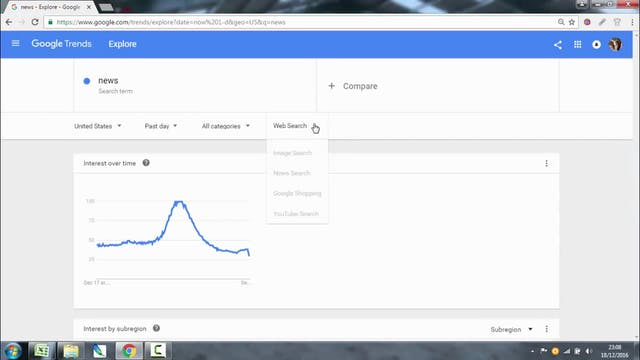 Researching ideas - Google trends