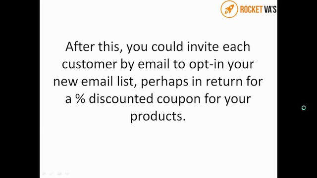 VA 17 Growing your customer email list