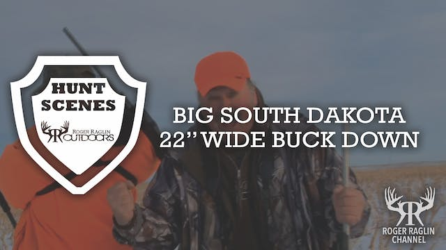 "Big South Dakota 22"" Wide Buck Down •..."