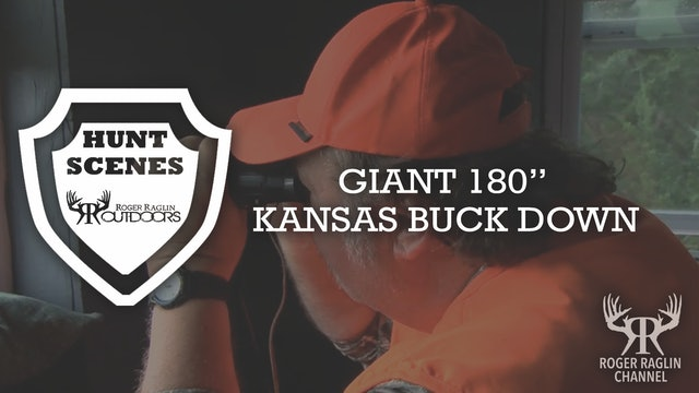 "Giant 180"" Kansas Buck Down • Hunt Scenes"