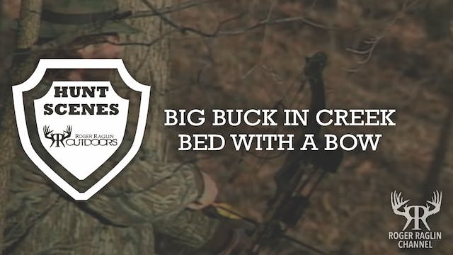 Big Buck Bow in Creek Bed • Hunt Scenes