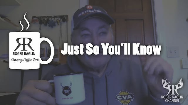 Just So You'll Know • Coffee Talk