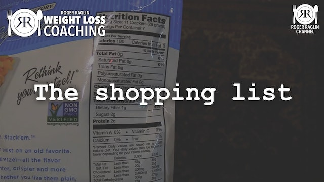 21. The shopping list • Weight Loss Coaching