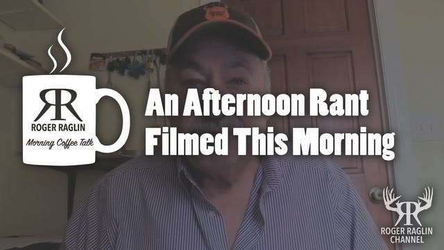 An Afternoon Rant Filmed This Morning...