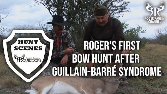 Roger's first  bow hunt after Guillai...