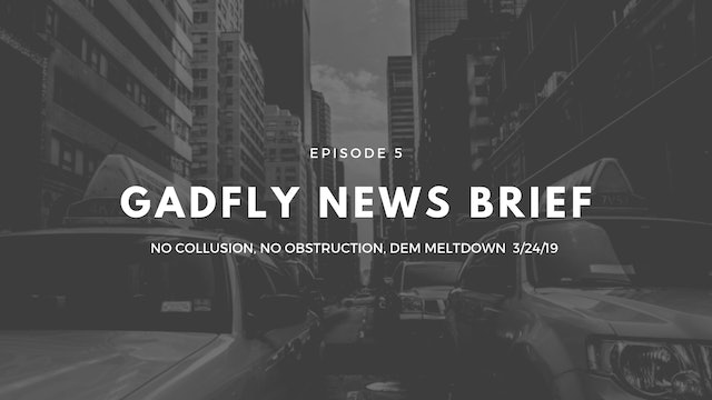Gadfly News Brief - No Collusion, No Obstruction, DEM Meltdown (3/24/19)