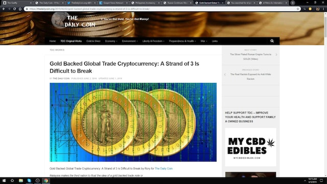 Rory Hall - Gold Backed Global Trade Cryptocurrency (6/3/19)