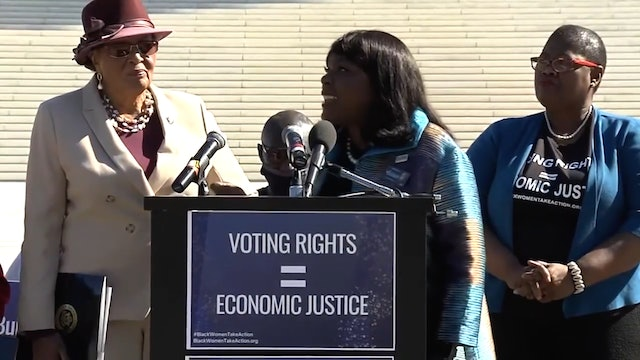 Black women leaders, allies voting rights & economic justice call to action