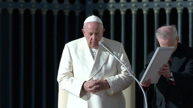 Pope Francis  at General Audience war...