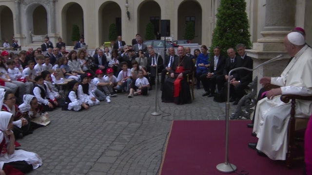 Pope meets with children: Here's the secret to not speak poorly of anyone