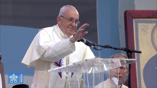 Pope Francis to youth: Your sensitivity leads you to disprove all talk