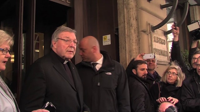Cardinal Pell, arrested and in police custody